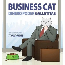 Business Cat. Dinero, poder, galletitas
